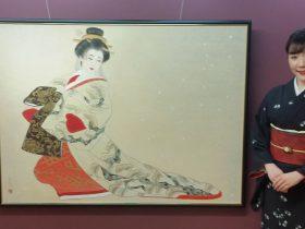 中西麻莉子 美人日本画家 個展 日本画