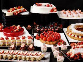 東京の新しいエンターテインメントスポットとして地上約140mの最上階にオープンした、9つのダイニングとバーを持つ「DINING & BAR TABLE 9 TOKYO」のAWA LOUNGEにて、『Strawberry Sweets Buffet』を2018年2月1日(木)から