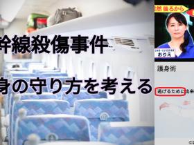 報道でわかる範囲では 新横浜から小田原を走行中ののぞみ265号 東方神起のコンサートの帰りの乗客も多く にぎわう新幹線の中 指定席12号車で起こった事件でした 事件の始まりは新横浜駅から 乗車した犯人の隣に座った女性が 突然ナタとナイフのような刃物で襲われ 次に道を挟んで隣に座った女性が襲われ 助けに入った男性の方が 犠牲になってしまいました。