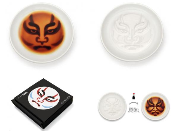 【歌舞伎×醤油皿】醤油を注ぐと顔が現れるお皿がヴィレヴァン通販で取扱いスタート! 種類も豊富でよりどりみどり。 ヴィレッジヴァンガード