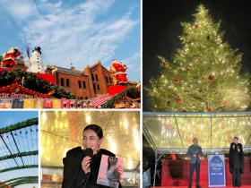 長谷川京子、横浜赤レンガ倉庫のクリスマスツリー点灯式に登場!20歳の頃の赤レンガデートの思い出を振り返る