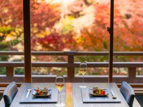 【星のや京都】紅葉の名所・嵐山で、深まる秋の情景を映した料理に舌鼓 「秋の恵みと薫りを味わう」会席料理を提供