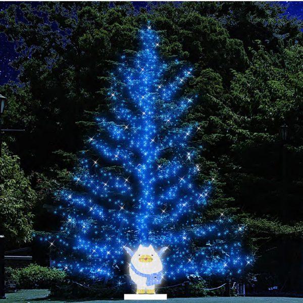 """元町・中華街駅直結のアメリカ山公園が幻想的なブルーの世界に 11/20 からウインター・イルミネーション開催 キラキラと光り輝く、みなとみらい線キャラクター「えむえむさん」も登場 横浜高速鉄道(横浜市中区、代表取締役社長 鈴木 伸哉)では、ウインター・イルミネーション「SWEET MEMORY in アメリカ山公園」を、2020 年 11 月 20 日(金)から 2021 年 2 月 28 日(日)まで開催いたし ます。 今回は、このコロナ禍に、医療従事者をはじめ、すべての分野において尽力されている皆様へ感謝と敬意の 気持ちを込めて、会場全体を夜空に溶け込むような美しい""""ブルー""""のイルミネーションで演出します。また、 期間中会場には、キラキラと光り輝くみなとみらい線キャラクター「えむえむさん」も登場します。日常の喧 騒から離れた、心落ち着く幻想的な空間をぜひお楽しみください。 さらに、昨年に続き、「SWEET MEMORY in アメリカ山公園」のイルミネーションの写真を撮ると素敵な プレゼントが貰えるキャンペーンを期間限定で実施いたします。(※詳細は後日みなとみらい線公式ホーム ページ等でお知らせいたします) 実施期間:2020 年 11 月 20 日(金)~2021 年 2 月 28 日(日) 点灯時間:16:30 から 23:00 まで ※期間中、施設点検のため消灯することがあります。 実施場所:アメリカ山公園(横浜市中区山手 97-1 みなとみらい線 元町・中華街駅 6 番出口すぐ)"""