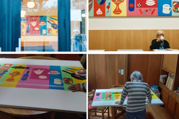 【DEAN & DELUCA】『ART CANVAS PROJECT』   染色家・柚木沙弥郎さんによる唯一無二の切り絵アートワークがカフェコレットマーレの1周年記念に設置